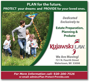 Watertown advertisement sample for Kujawski Law