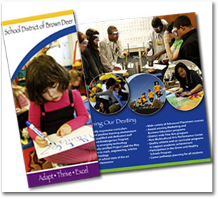 Brochure Deisign by Oconomowoc graphic designer Linda Goehre