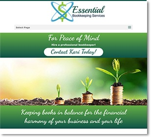 web design for essential bookkeeping