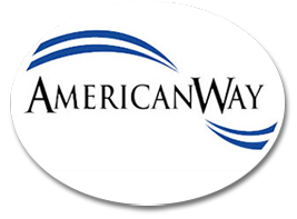 oconomowc graphic designer designs logo for AmericanWay, Portage, logo design Madison
