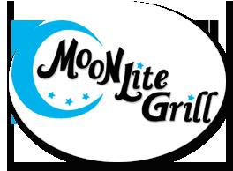Oconomowoc Logo designer, graphic designer Linda Goehre Creative designs a logo for Moon Lite Grill in Oconomowoc WI