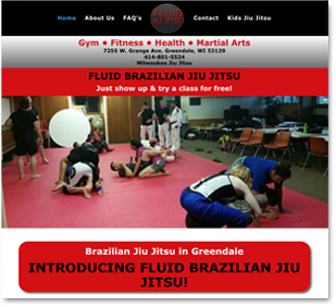 Website design for greendale jiu jitsu training website