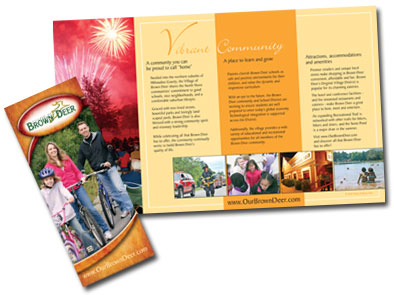 brochure design by linda goehre creative design in Oconomowoc wi